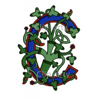 Celtic Tree of Life Capital C - Coloured