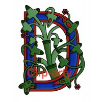 Celtic Tree of Life Capital D - Coloured