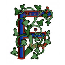 Celtic Tree of Life Capital F - Coloured