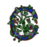 Celtic Tree of Life Capital G - Coloured