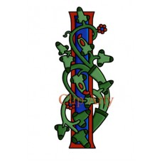 Celtic Tree of Life Capital I - Coloured