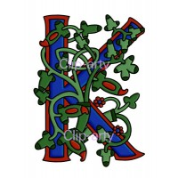 Celtic Tree of Life Capital K - Coloured