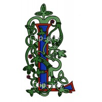 Celtic Tree of Life Capital L - Coloured