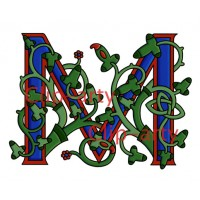 Celtic Tree of Life Capital M - Coloured