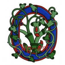 Celtic Tree of Life Capital O - Coloured