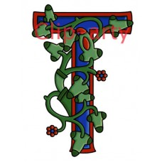Celtic Tree of Life Capital T - Coloured