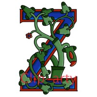 Celtic Tree of Life Capital Z - Coloured