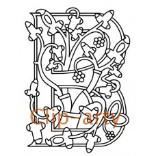 Celtic Tree of Life Capital B - Drawing