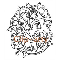 Celtic Tree of Life Capital G - Drawing