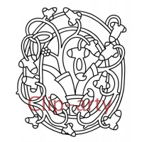 Celtic Tree of Life Capital O - Drawing