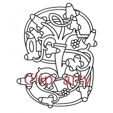 Celtic Tree of Life Capital S - Drawing