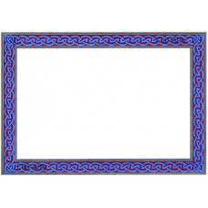 Celtic Border 1 - Blue and Red