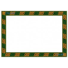 Celtic Border 5 - Green and Gold