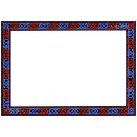 Celtic Border 5 - Red and Blue