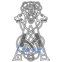 Celtic Capital A - Drawing
