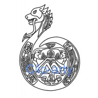Celtic Capital B - Drawing