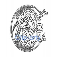 Celtic Capital C - Drawing