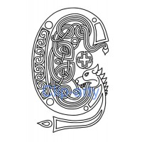 Celtic Capital G - Drawing
