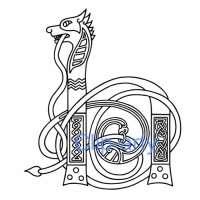 Celtic Capital H - Drawing
