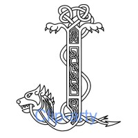 Celtic Capital J - Drawing
