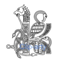 Celtic Capital K - Drawing