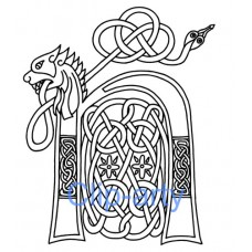 Celtic Capital N - Drawing