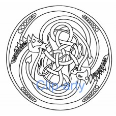Celtic Capital O - Drawing