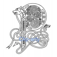 Celtic Capital P - Drawing