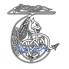 Celtic Capital T - Drawing