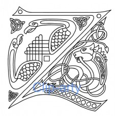 Celtic Capital Z - Drawing