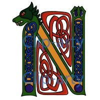 Celtic Capital N 3 - Coloured
