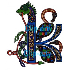 Celtic Capital K - Coloured