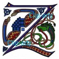Celtic Capital Z - Coloured