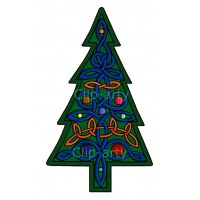 Celtic - Christmas Tree 1 - Coloured