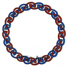 Celtic - Knot Circle - Blue and Red