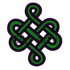 Celtic - Square Knot - Green and Purple