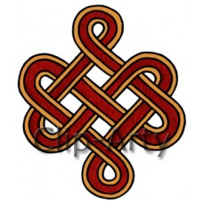 Celtic - Square Knot - Red and Yellow