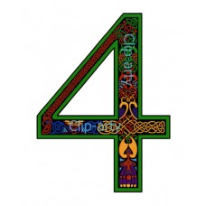 Celtic Number 4 - Coloured