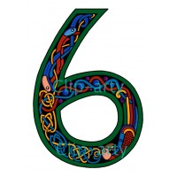 Celtic Number 6 - Coloured