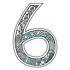 Celtic Number 6 - Drawing