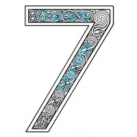 Celtic Number 7 - Drawing