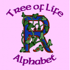 Celtic Illuminated Tree of Life Alphabet - Coloured