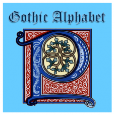 Gothic Illuminated Alphabet - Painted