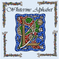 Whitevine Illuminated Alphabet - Blue - Coloured